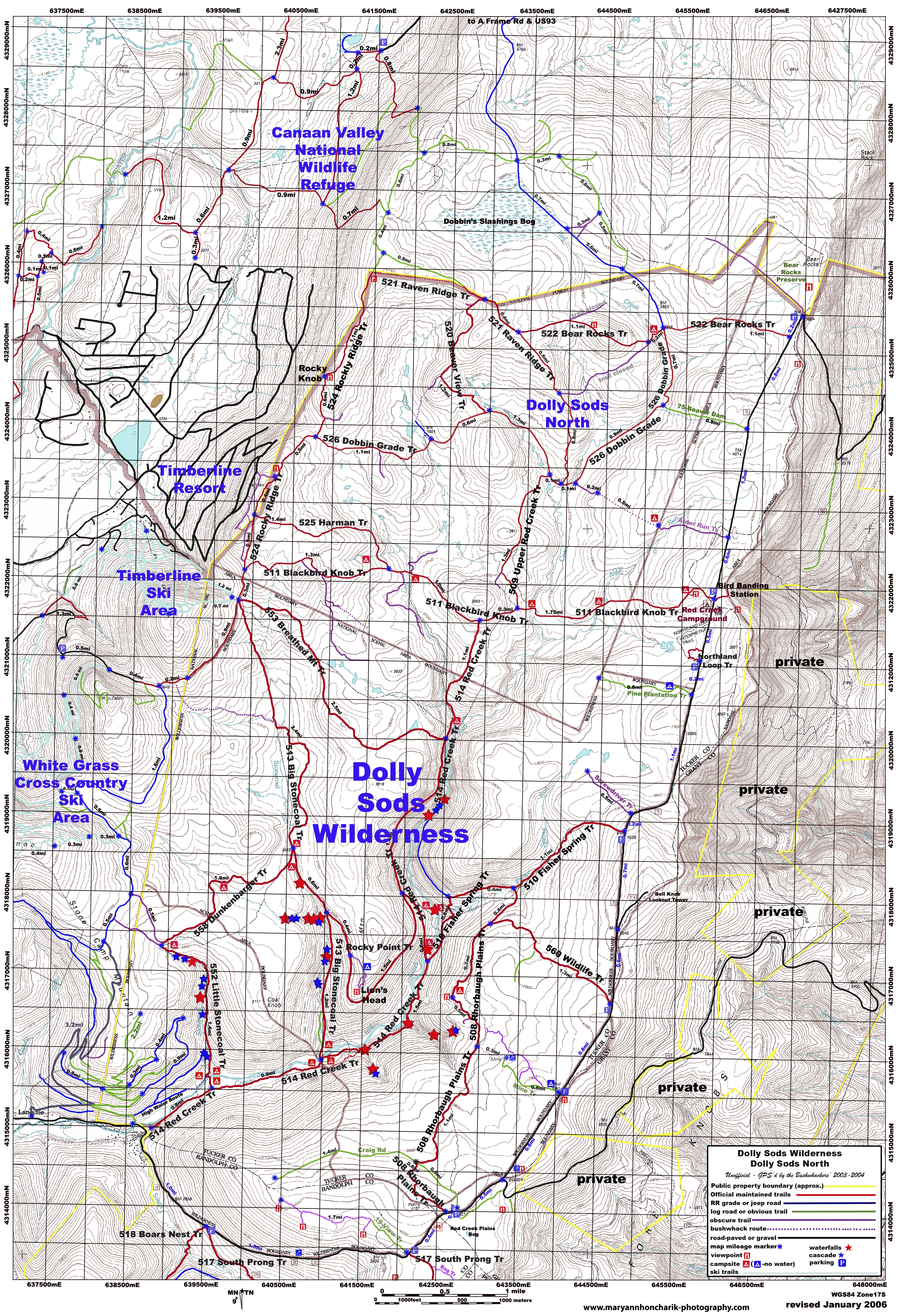 Anyone know of a trail map for Monongahela National Forest ... on