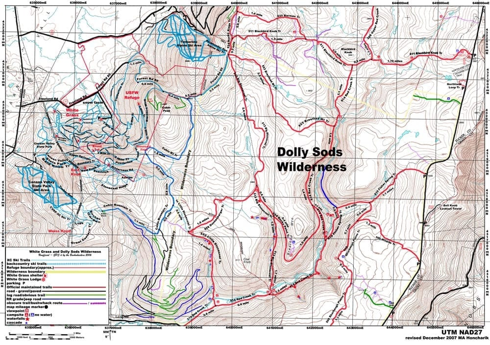 Trail Guide & Maps - White Gr Ski Touring Center on