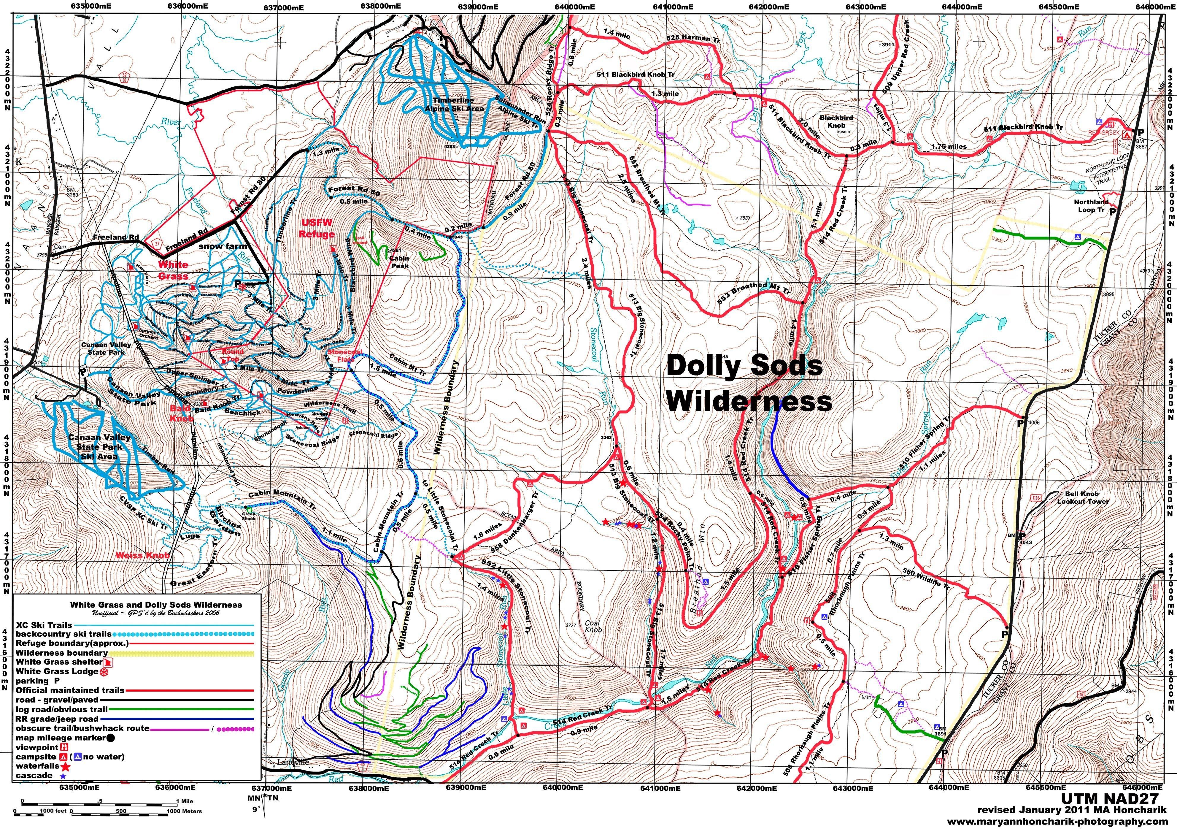 Trail Guide & Maps - White Grass Ski Touring Center